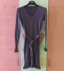 Dzemper-haljina boje jorgovana
