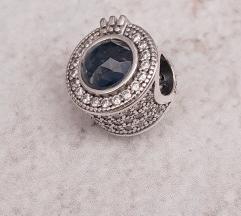 PANDORA svetlucava plava kruna S925