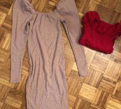 Haljina sa puf rukavima NOVo cena za obe