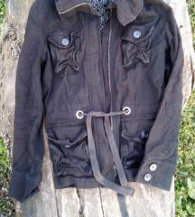 Tamno braon H&M jakna