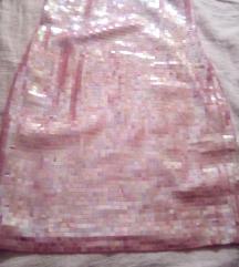 Roza krljust haljina