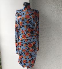 Zara duga cvetna haljina novo