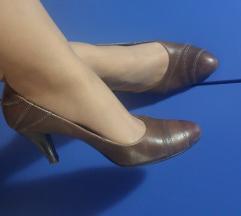 PEKO braon kozne cipele salonke 25cm