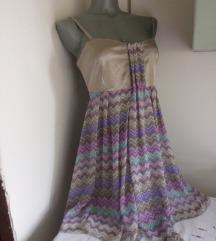 Allegra krem sa sarenim haljina 42/L
