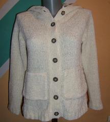 Krem džemper sa kapuljačom  Pliš trikotaža Sasson