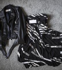 OVS plisirana crno- bela suknja, vel. 36