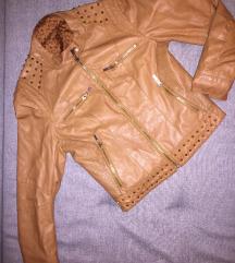 Braon jakna sa nitnama