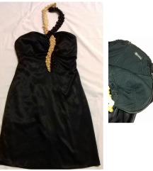 Crna haljina od satena