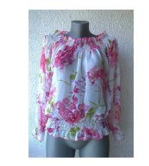 bluza za leto cvetni dezen providna broj M