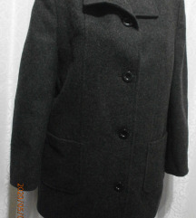 NOV melirani tamno sivi kaputić-blejzer L