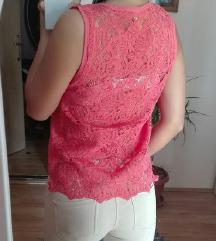 Zara majica sa cipkom,kao nova