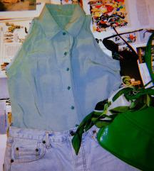 Vintage mint košulja bez rukava; vel. S-M