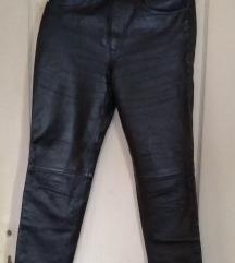 Kožne bajkerske pantalone