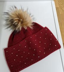 Zimska kapa sa pravim krznom