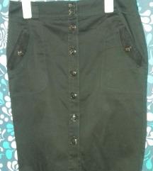 MEXX maslinasta suknja, kopcanje napred