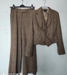 Komplet pepito H&M, pantalone,sako i prsluk