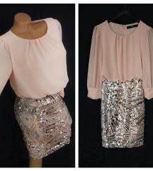 VERO MODA ✿ glamurozna mini haljina NOVO