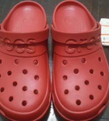 Nove original Crocs crvene/bordo papuce 43-44