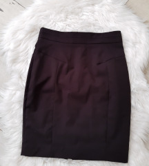 Crna suknja dubok struk s.m.