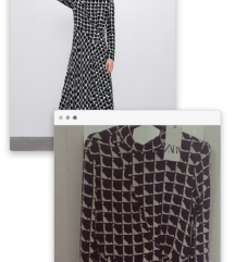 Zara jesenja haljina sa etiketom