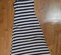 dugačka haljina  teget bela