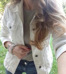 H&M bela somot jaknica