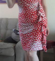 Crveno bela haljina sa karnerom