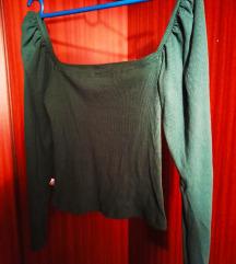 Zelena bluzica sa puf rukavima