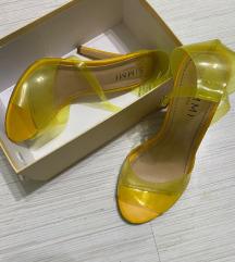 Simmi žute sandale na štiklu snižene ‼️