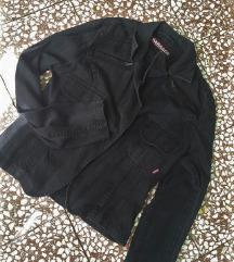 Passage crna pamučna jaknica