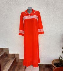 Crvena spavaćica haljina sa vezom