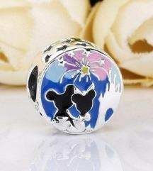 Pandora Mickey & Minnie Happy srebro ale s925