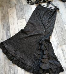 Belle Paque🖤🕸️🌹ultra high waist, goth suknja