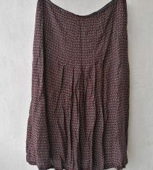 Midi vintage suknja sa faltama L/XL