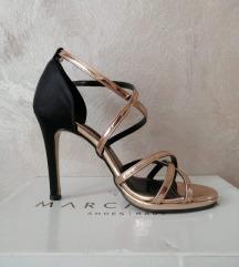 Crno bakarne sandale 38