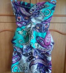 Sarena mini haljina