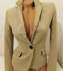 ZARA jakna somot nova S