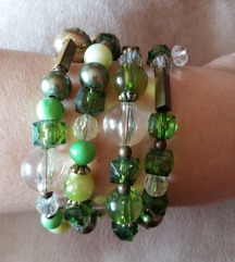 Narukvica zelene perle