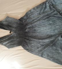 Srebrna H&M haljina