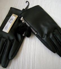 Crne kozne rukavice NOVO