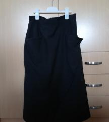 Crna suknja sa preklopom, runska vuna
