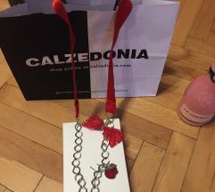 Hand made ogrlica crvena