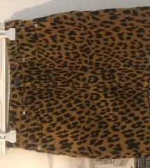 H&M animal print suknja
