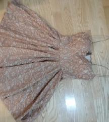 SNIZENO Puder roze haljina