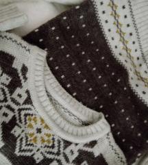 Komplet zimska haljina, kapa, sal, dokolenice