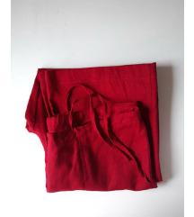 Crvene lanene pantalone