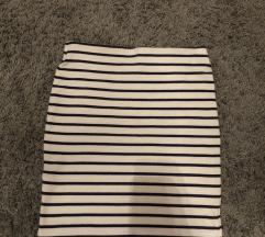 H&M prugasta mini suknja