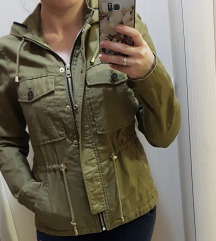 Zara prolecna maslinasta jakna XS/S SNIZENA!!!
