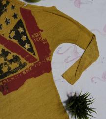 Žuta tunika sa printom