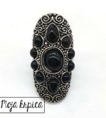 Retro antik crni prsten